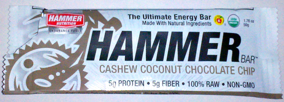 Hammer Bar, Cashew Coconut Chocolate Chip flavor – A Review