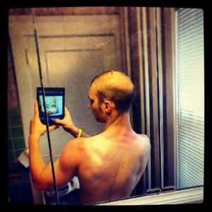 My Tri Suit Tan\Sunburn Line.