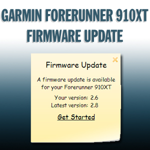 BREAKING: Garmin Forerunner 910XT Firmware Update